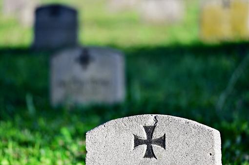 Gravestone of a german soldier