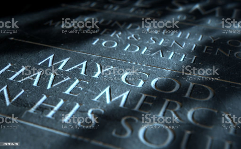 Gravestone Of Convicted Murderer stock photo