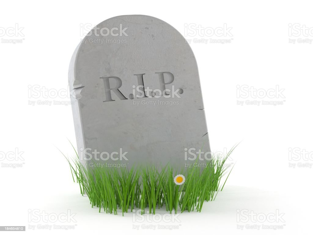 Gravestone stock photo
