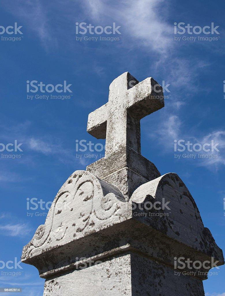 Gravestone with Cross royalty-free stock photo