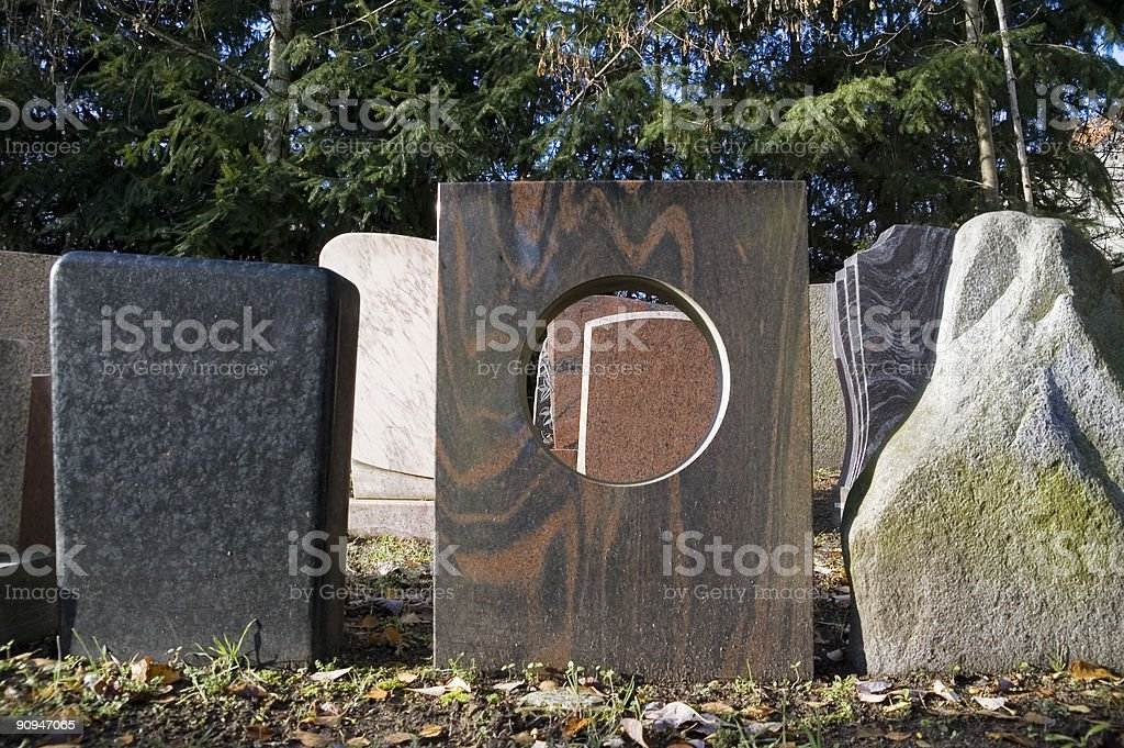 gravestones 2nd royalty-free stock photo