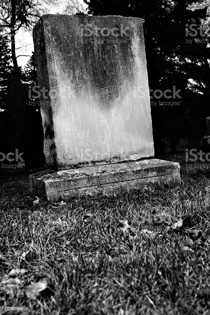 Graveyard At Night royalty-free stock photo