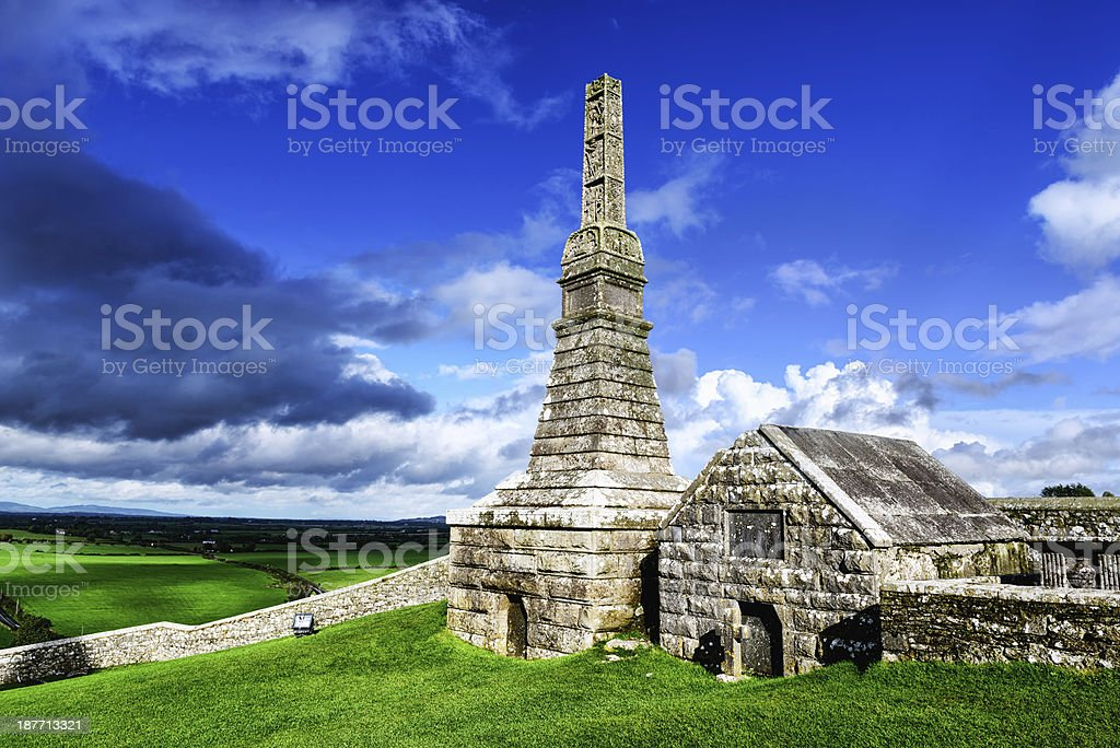 Graveyard at the Rock of Cashel, Ireland stock photo