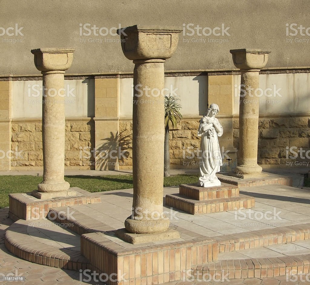 graveyard detail in Cairo at evening time royalty-free stock photo