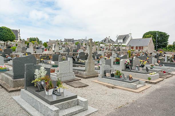 graveyard in Carnac stock photo