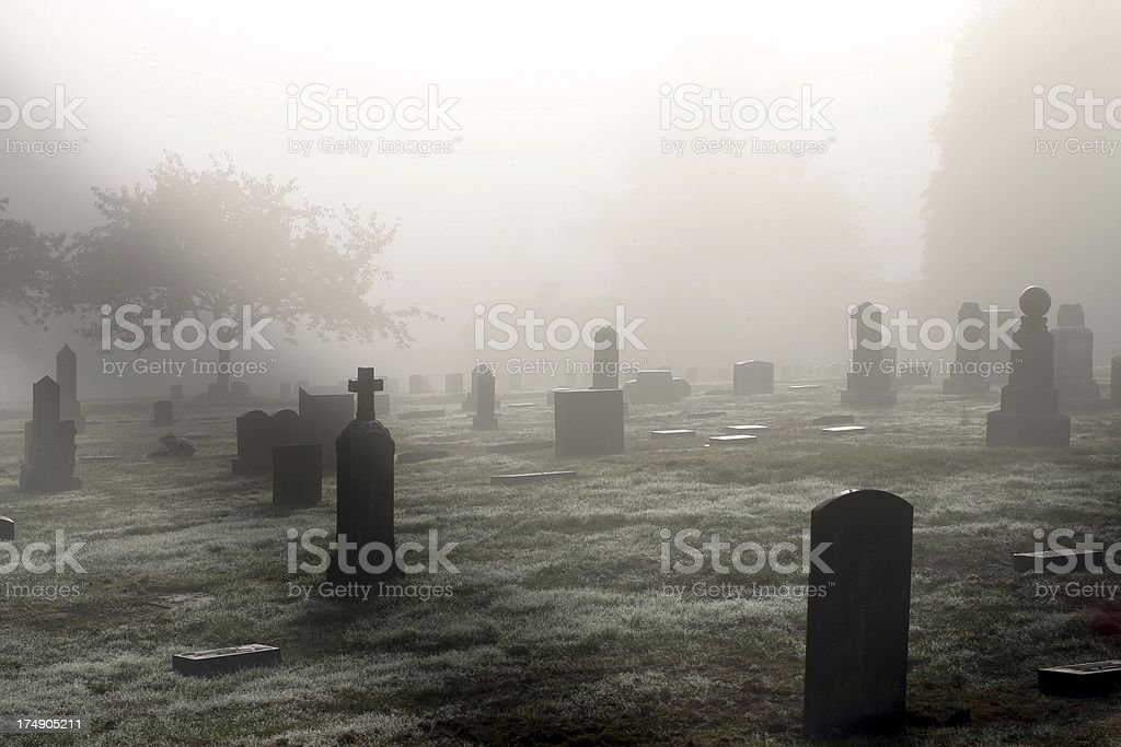 Graveyard In October stock photo