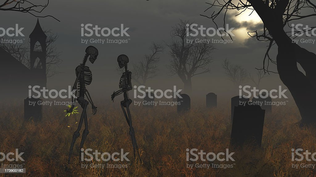Graveyard Romance stock photo