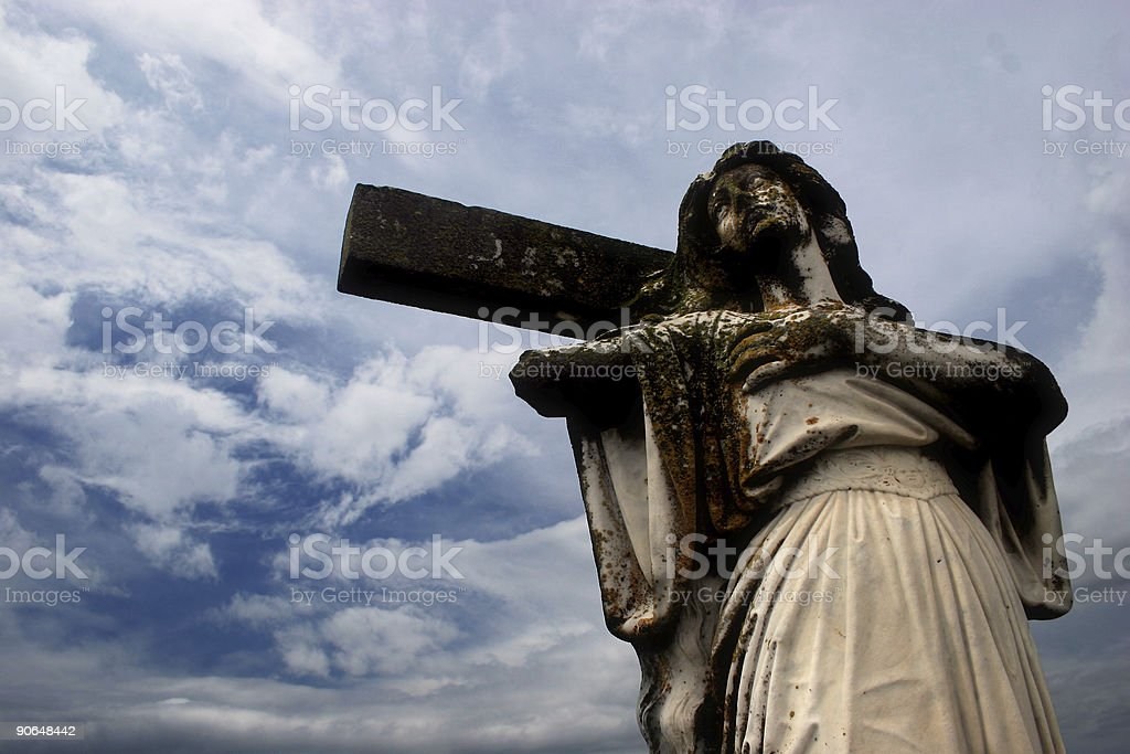 graveyard saint royalty-free stock photo