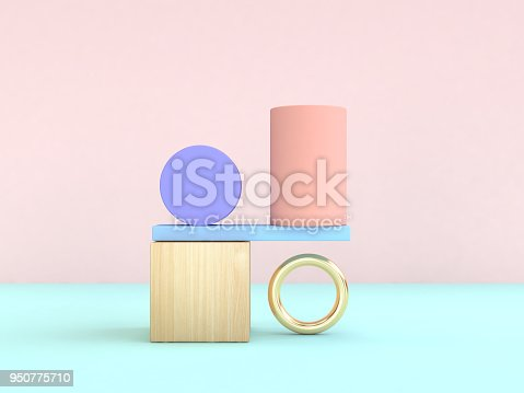 istock gravity concept abstract geometric shape pastel colorful 3d rendering 950775710