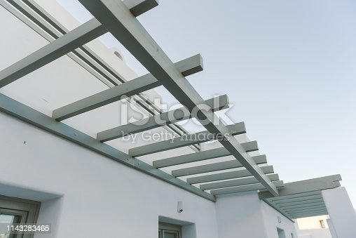 Gray Aluminum roof from below