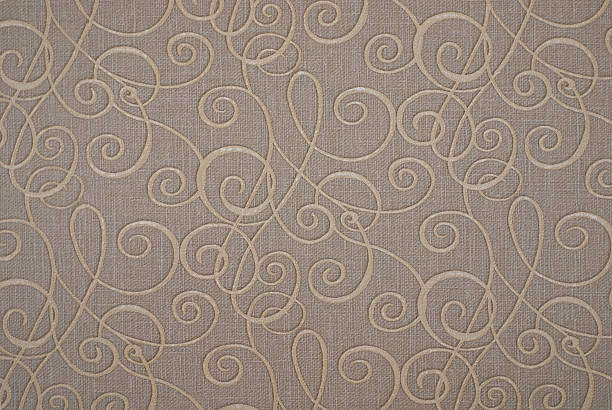 gray and beige paper floral pattern - art nouveau stock photos and pictures