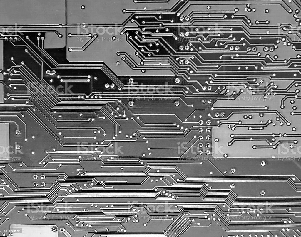 Gray and Black circuit board royalty-free stock photo