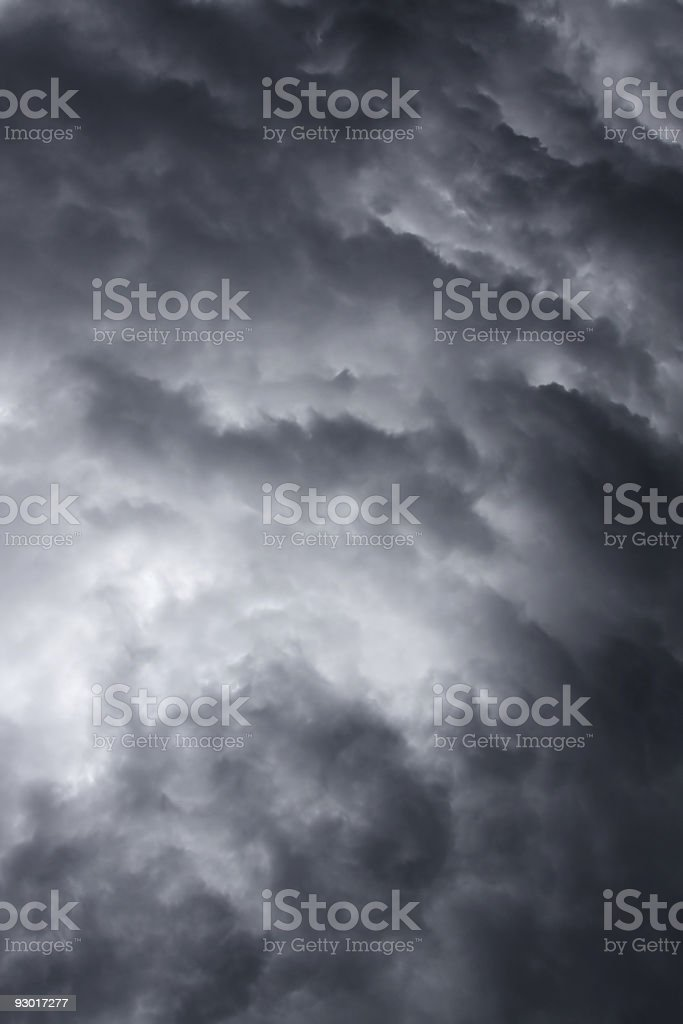 Gray and bluish photo of a heavy stormy sky royalty-free stock photo