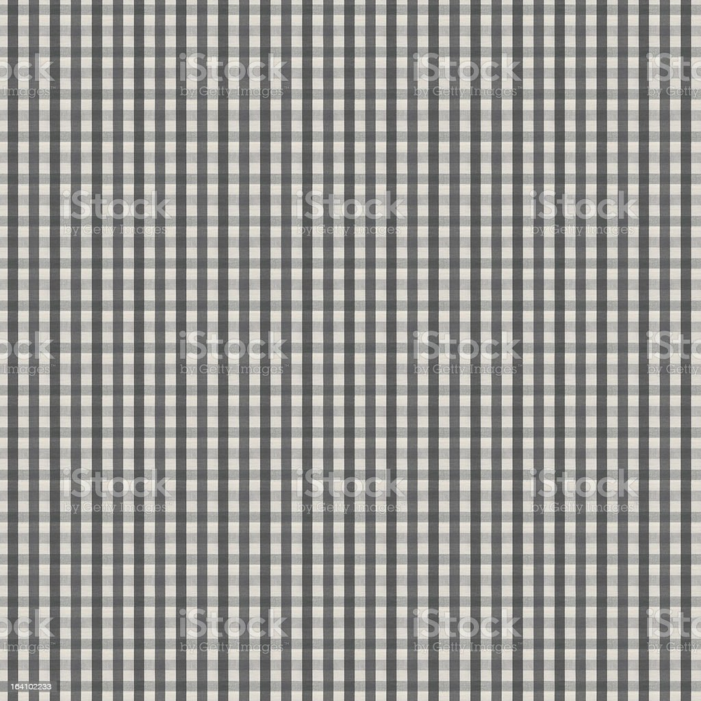 Gray and White Gingham Tablecloth Pattern stock photo