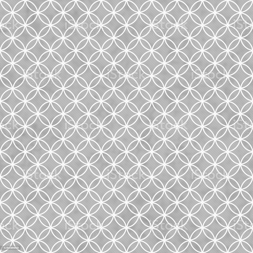 Gray and White Interlocking Circles Tiles Pattern Repeat Backgro stock photo