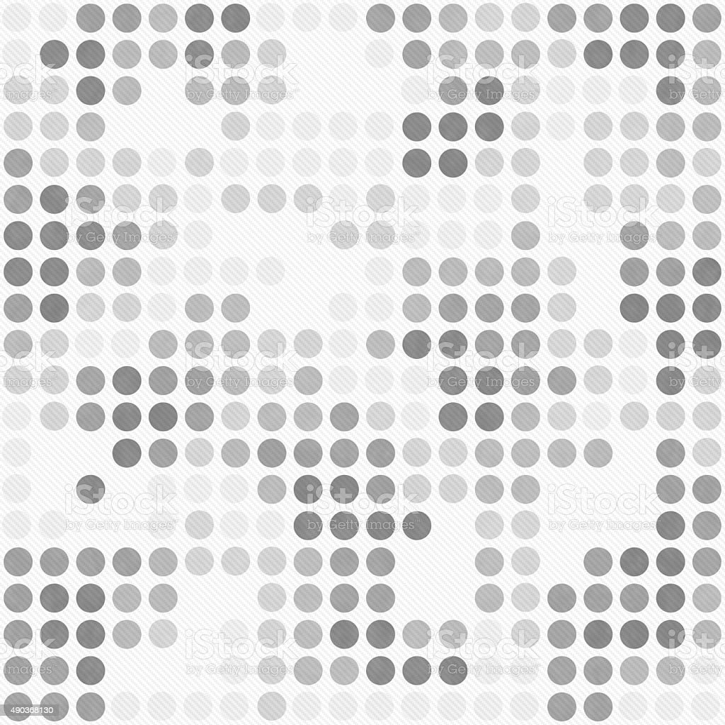 Gray And White Polka Dot Mosaic Design Pattern Repeat Background