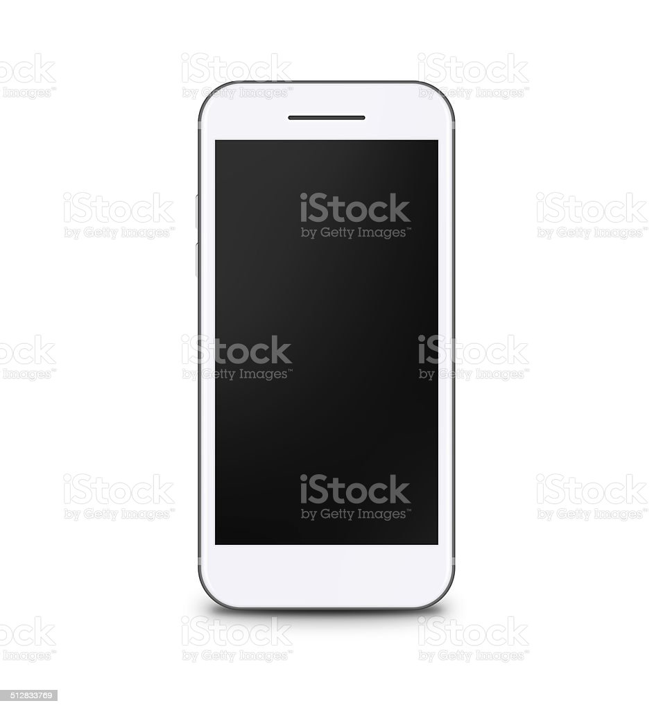 Gray and White Touchscreen Smart Phone With Black Screen stock photo