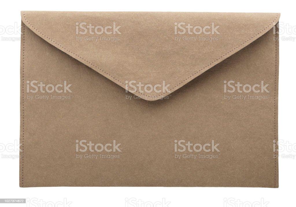 灰色のアート封筒。 ストックフォト