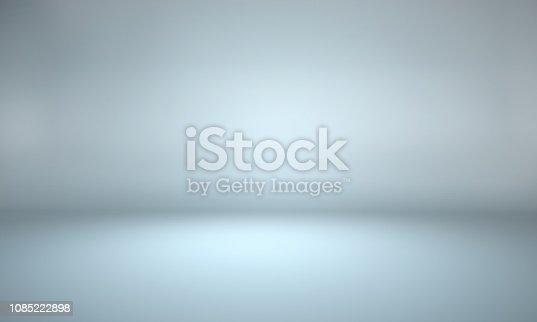 istock Gray background - empty background - empty studio room 1085222898