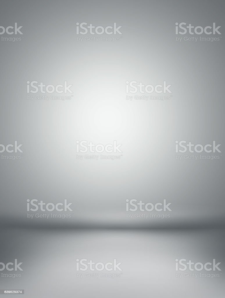 Gray background - Inside an empty room stock photo