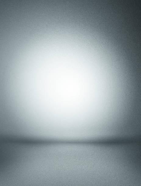 gray background - inside an empty room - grauflecken stock-fotos und bilder