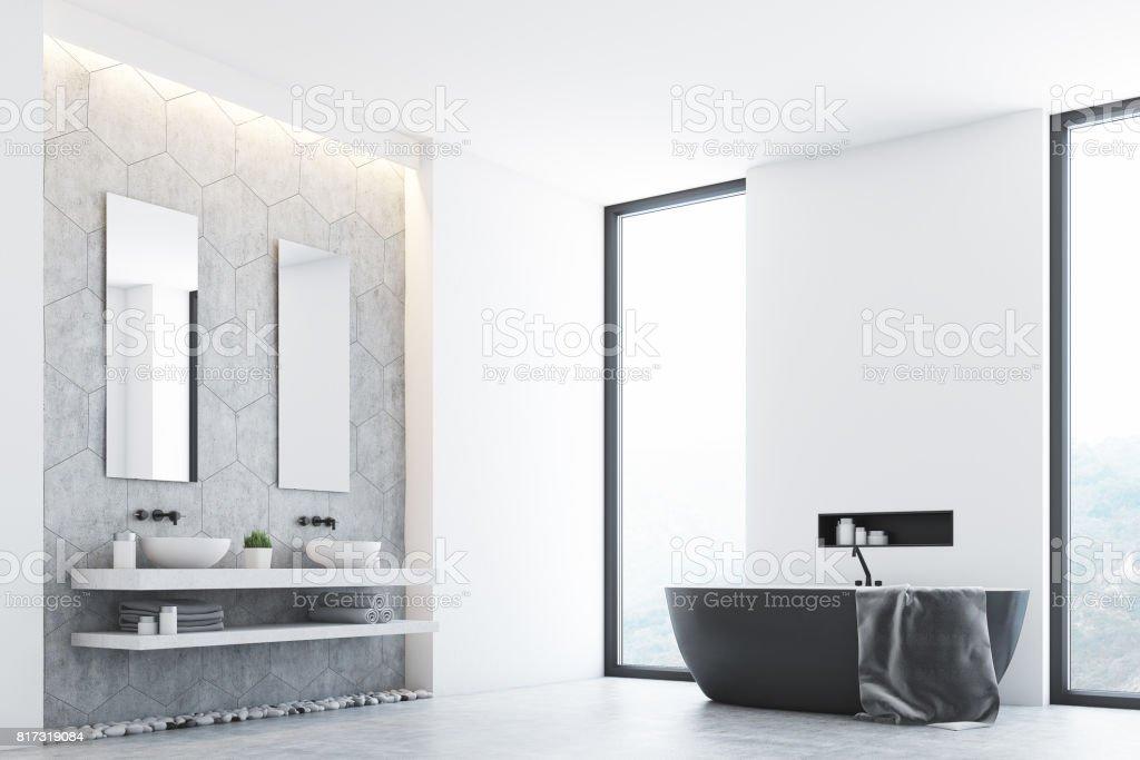 Graue Bad Und Fenster Ecke Stockfoto und mehr Bilder von ...
