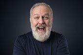 istock Gray beard happy old man 902012616
