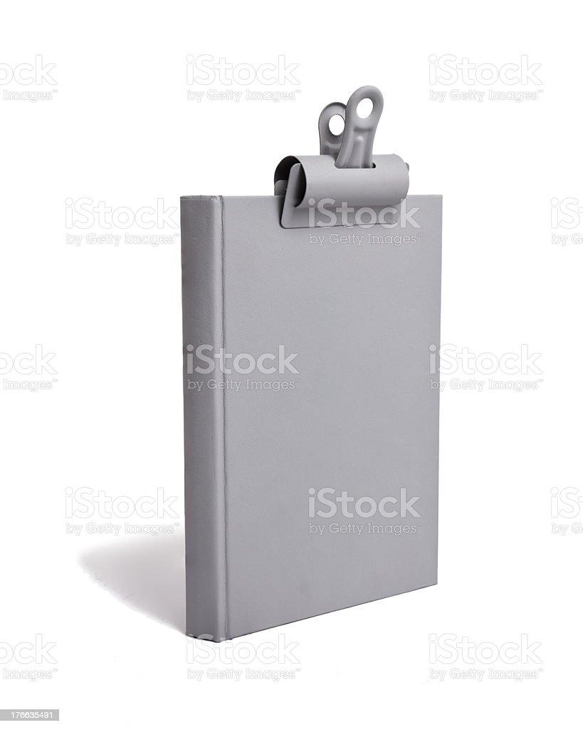 Gray Book Grey Clip royalty-free stock photo
