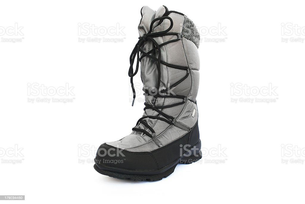Gray boot royalty-free stock photo