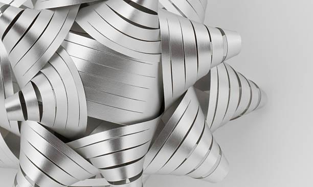 gray schleife - do it yourself invitations stock-fotos und bilder