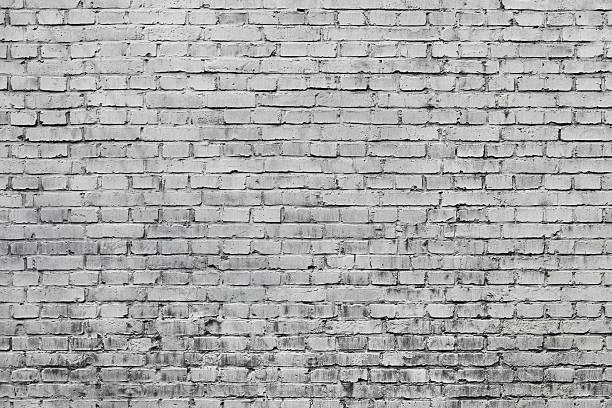 Gray brick wall stock photo