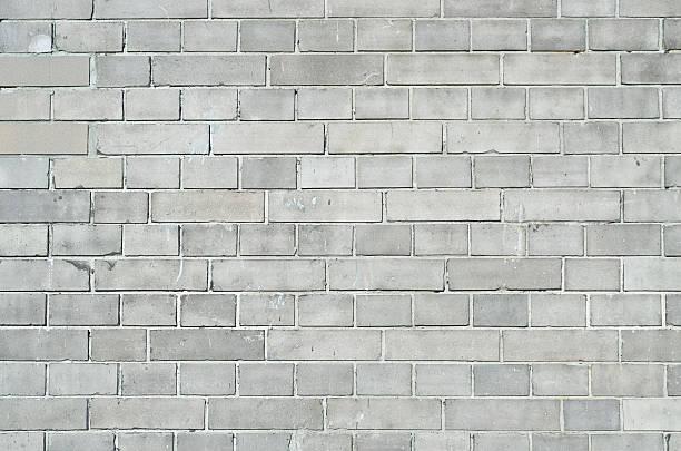 Gray brickwall surface stock photo