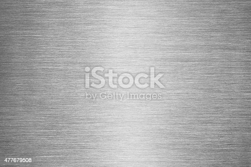 istock Gray Brushed Metal Texture Background - Steel or Aluminium 477679508