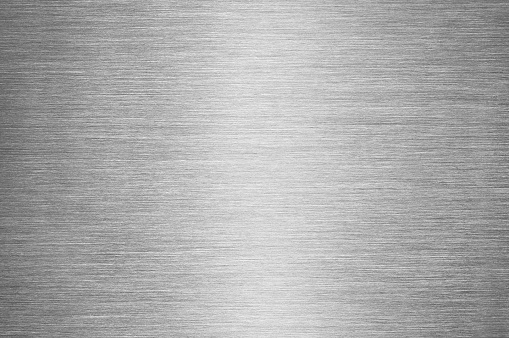 Gray Brushed Metal Texture Background Steel Or Aluminium Stock Photo - Download Image Now - iStock
