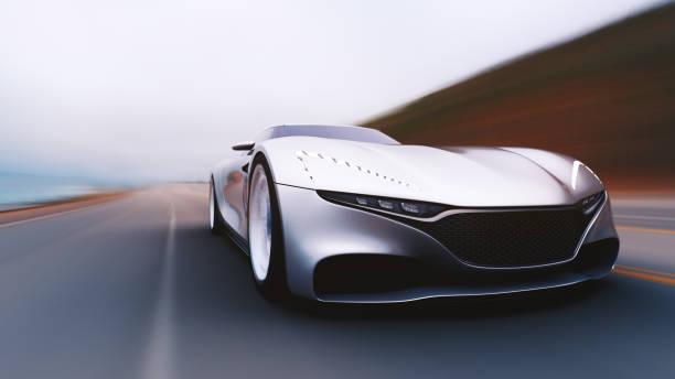 graues Auto fahren auf einer Straße – Foto