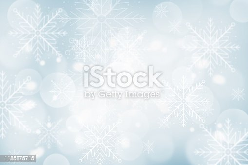 530427918 istock photo Gray Christmas abstract texture background with snowflakes winter and bokeh lights. blurred beautiful shiny Christmas new year, use wallpaper backdrop and your product. 1185875715