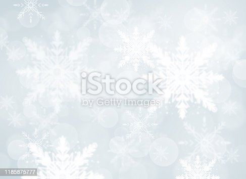 530427918 istock photo Gray Christmas abstract texture background with snowflakes winter and bokeh lights. blurred beautiful shiny Christmas new year, use wallpaper backdrop and your product. 1185875777