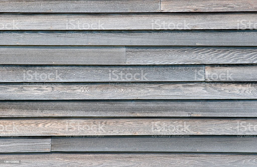 Bardeau de bois gris maison Siding, gros plan de fond en bois - Photo