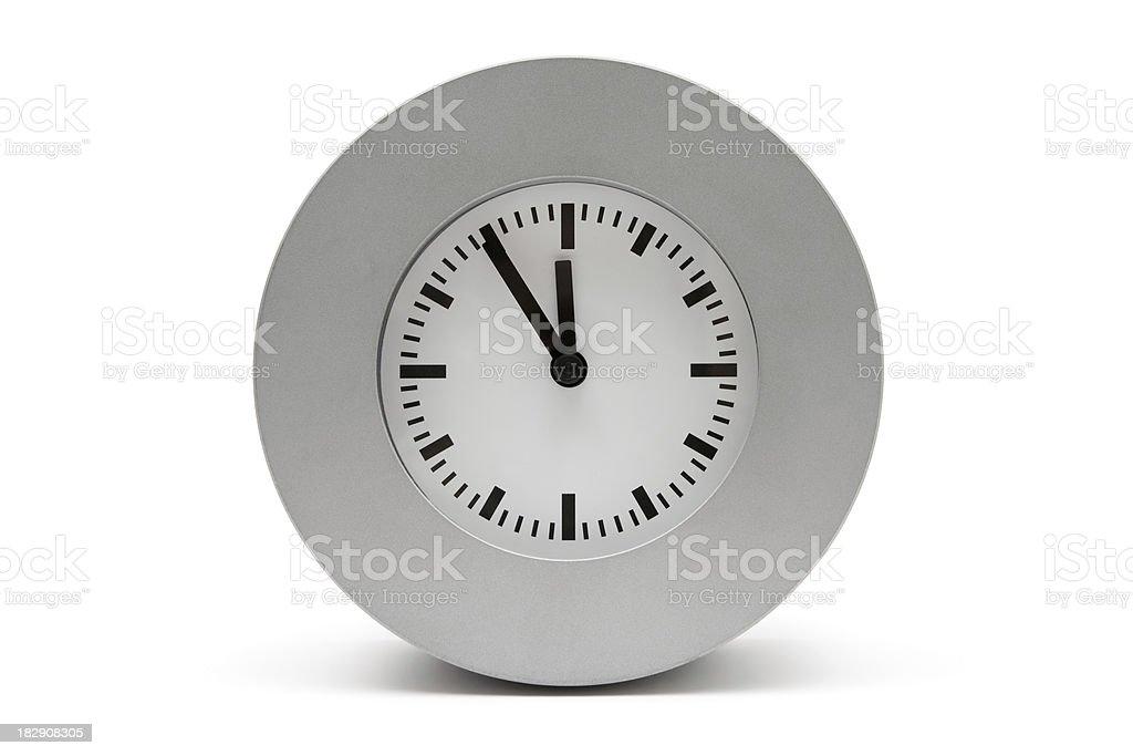 Gray Clock royalty-free stock photo