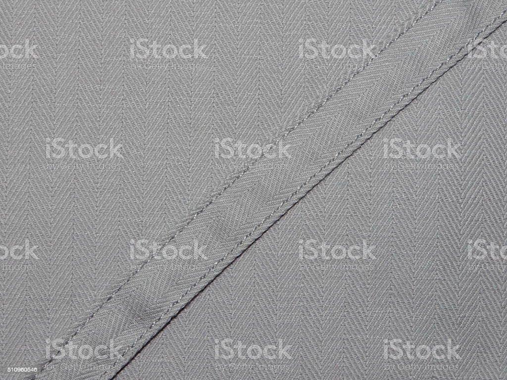 gray cloth with ribbon stock photo