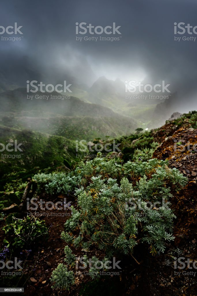 gray clouds over Teno mountains zbiór zdjęć royalty-free