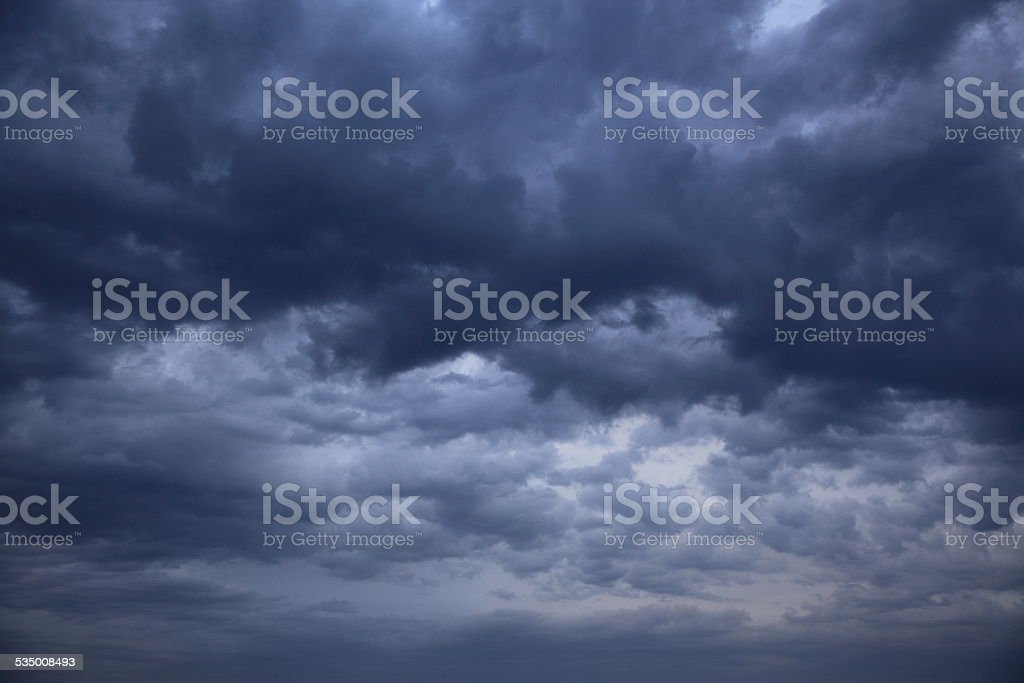 Gray clouds stock photo