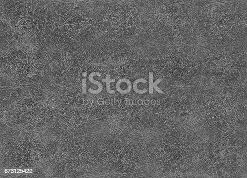istock Gray color artificial leather pattern. 673125422
