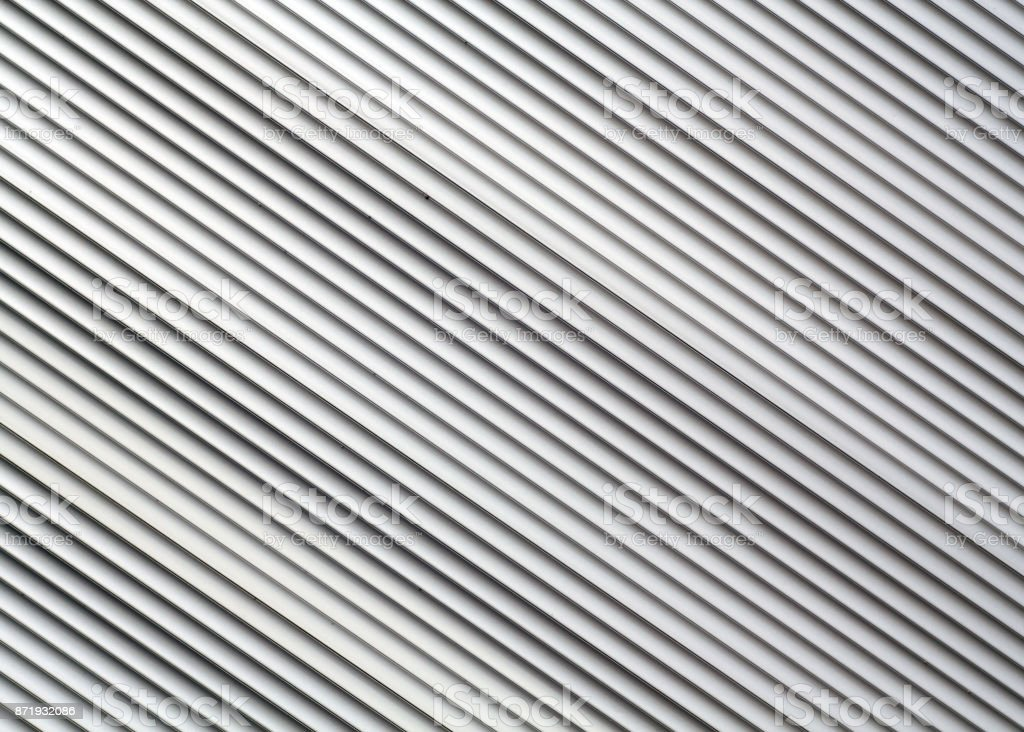 Gray color metal warehouse wall pattern. stock photo