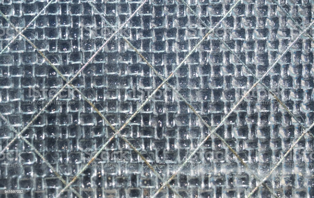 Gray Colored Wire Reinforced Glass Stock Photo & More Pictures of ...