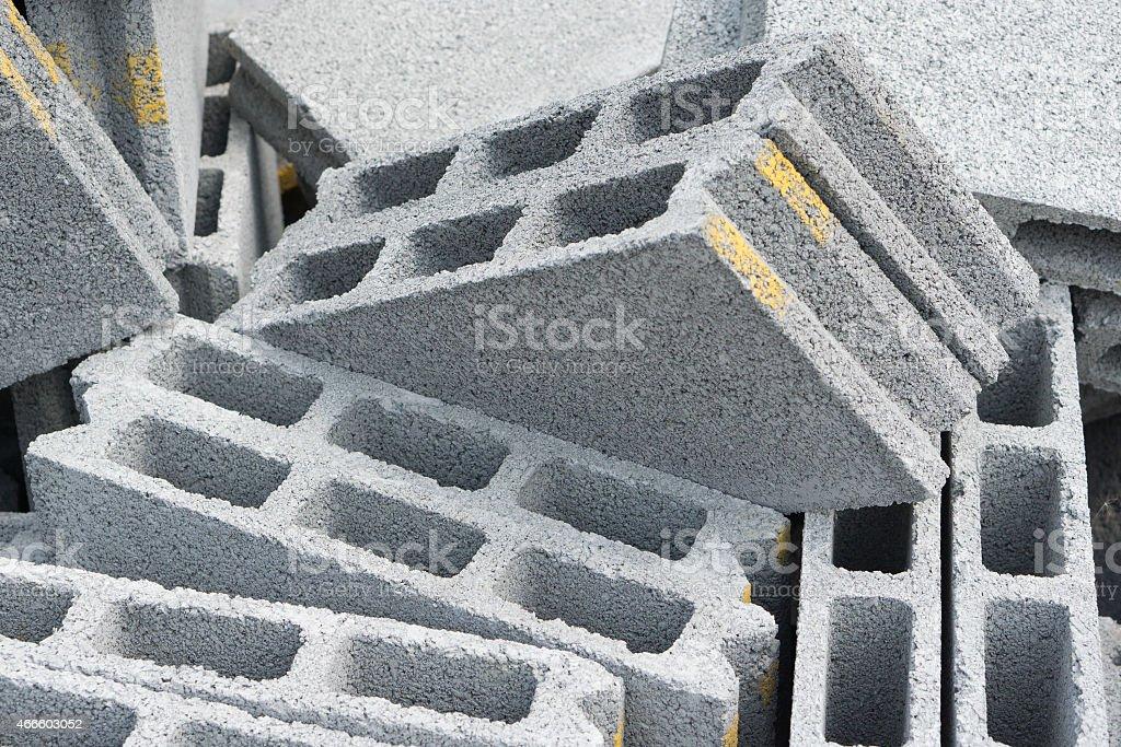 Gray concrete construction block stock photo