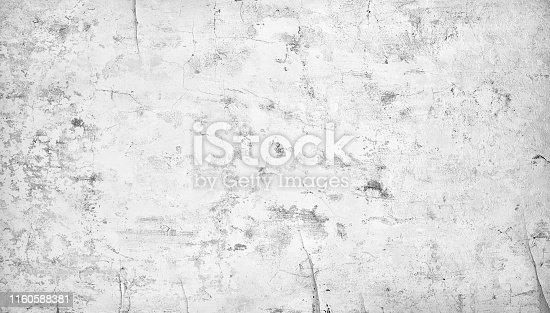Gray concrete old cracked wall texture background