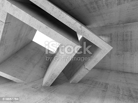 516688156istockphoto Gray Concrete room with 3 d cubic structures 516687784
