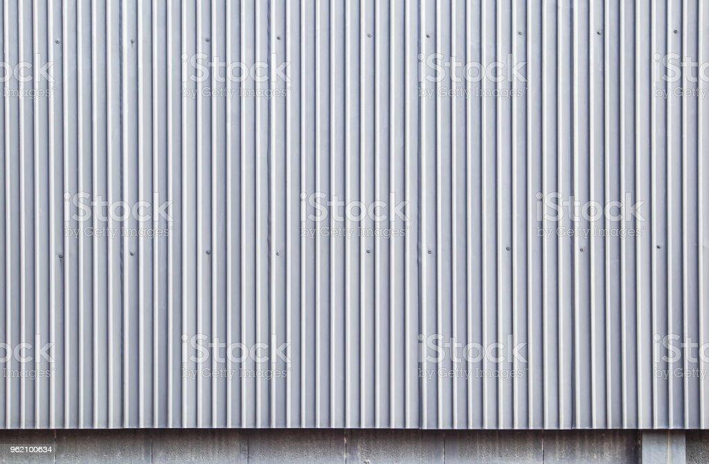 Gris pared de chapa acanalada, fondos - foto de stock