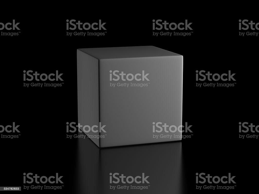 gray cube stock photo